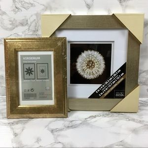 Home Decor - 2 NEW Gold Colored Pictures Frames